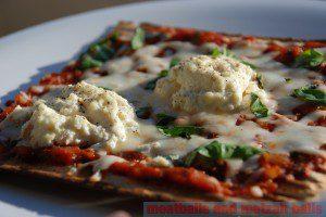Ricotta on Matzah Pizza