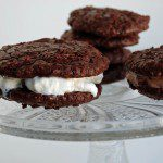 Chocolate-Pecan Cookie Ice Cream Sandwiches