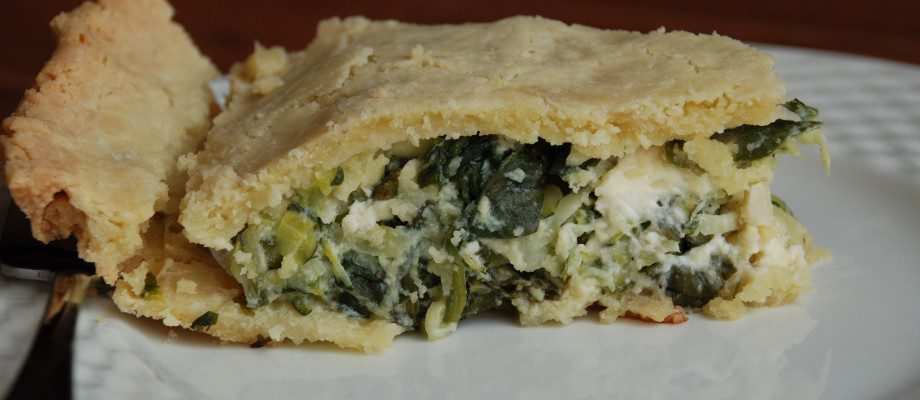 Mediterranean Zucchini, Dill, and Feta Pie