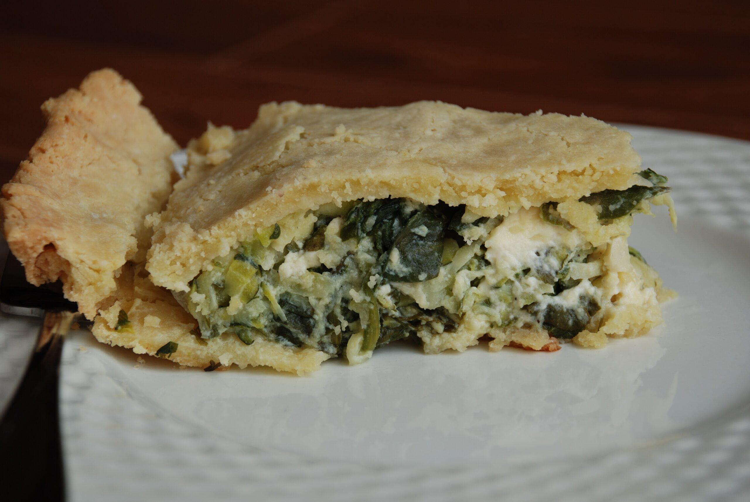 Mediterranean Zucchini, Dill, and Feta Pie