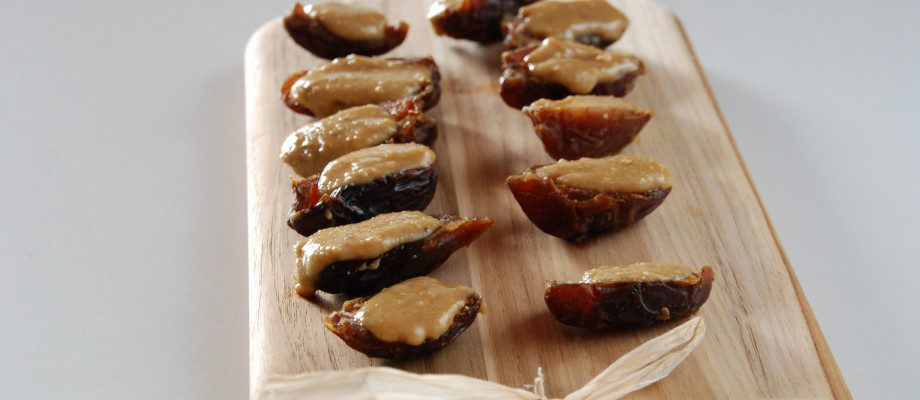 Dates Stuffed with Roasted Pine Nut Butter