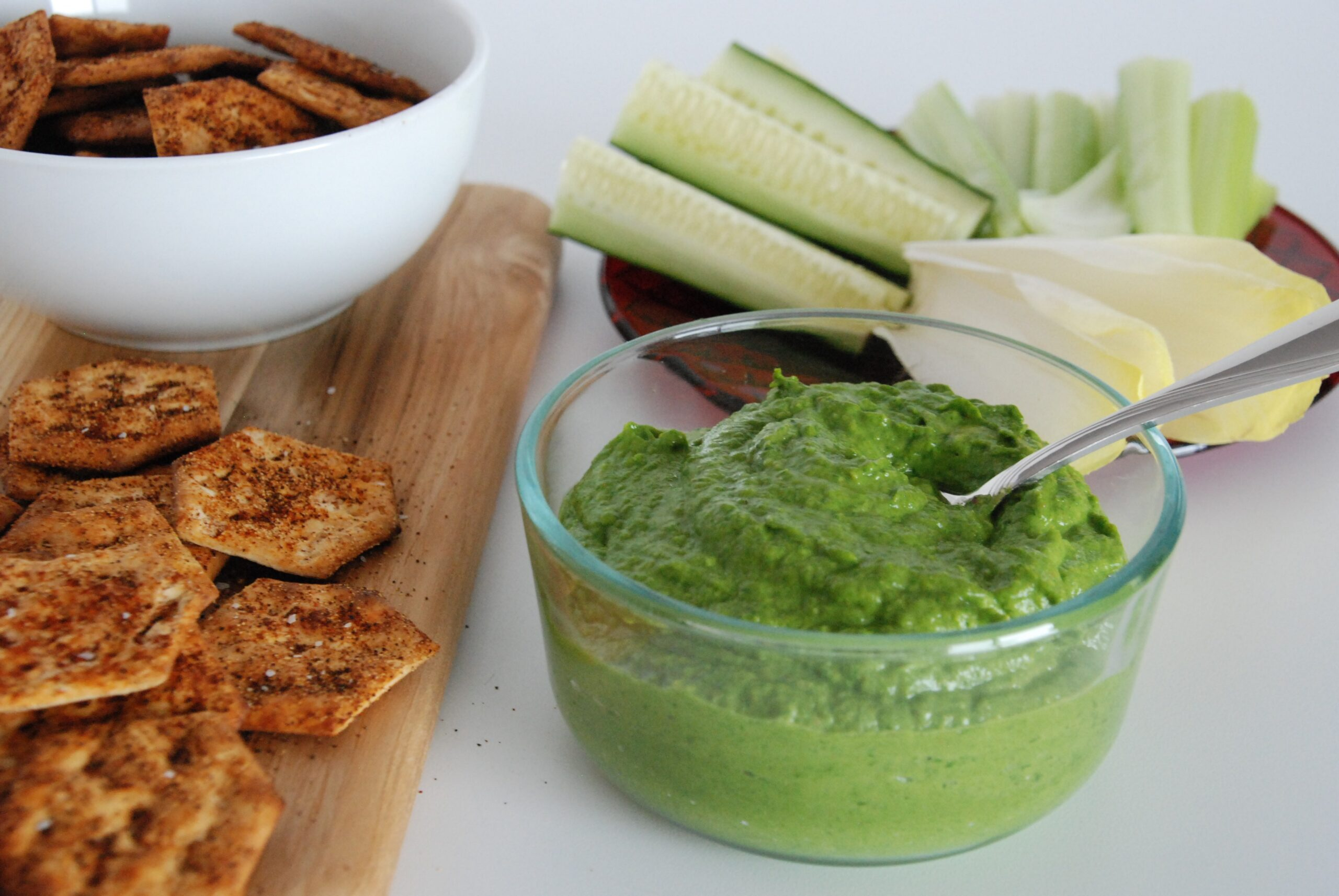 Avocado, Spinach, and Pickled Jalapeño Dip