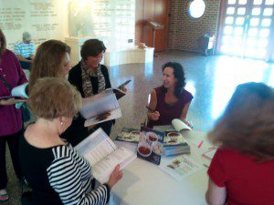 Book signing at Rodef Shalom Temple in Hampton, Va., September 2013