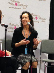 Being interviewed by journalist Michele Kayal at the DC Metro Cooking Show, November 2013