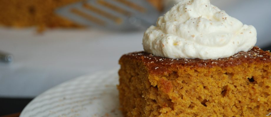 Pumpkin Cake (Torta di Zucca) with Orange-Mascarpone Topping