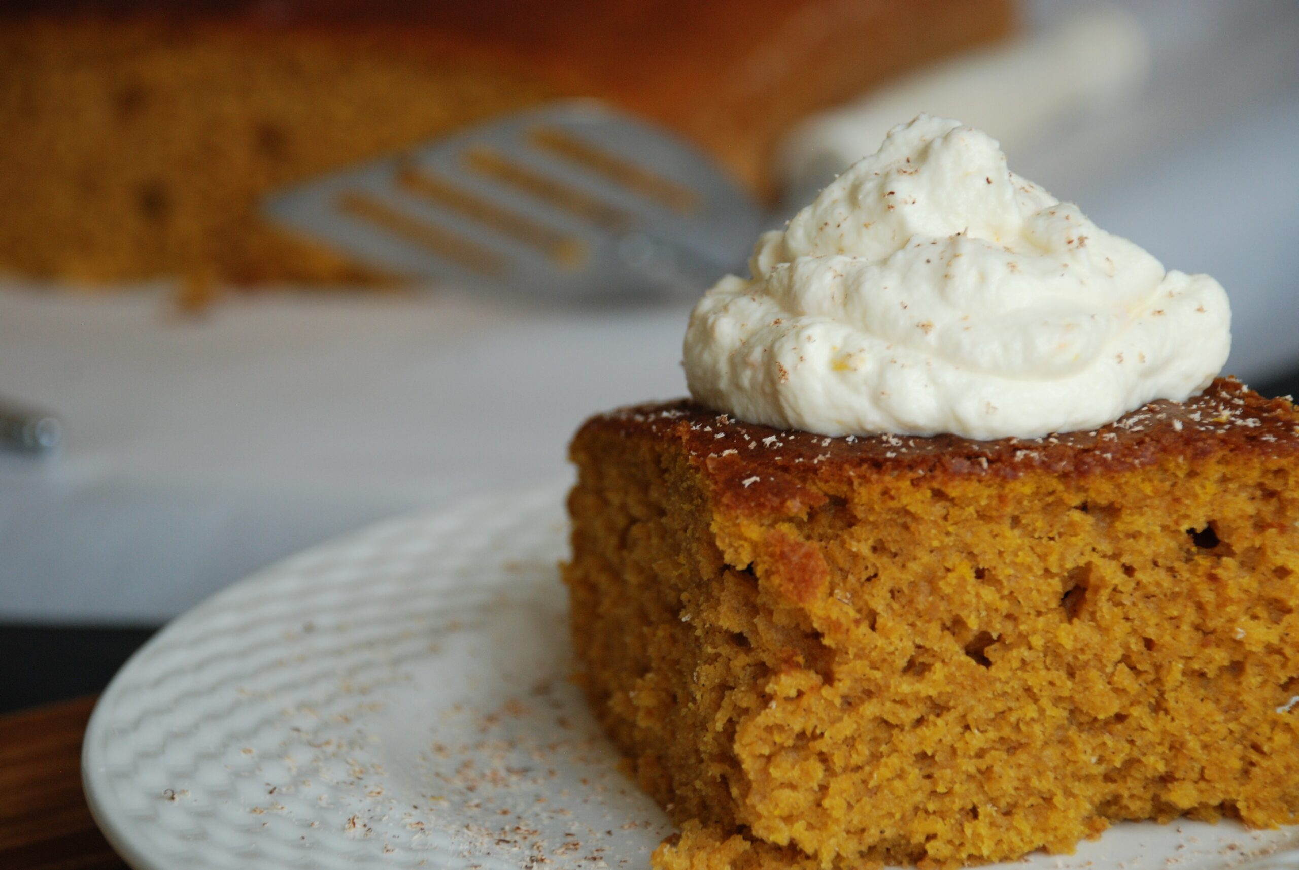 Pumpkin Cake (Torta di Zucca) with Orange-Mascarpone Topping