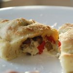 Calzones with Roasted Eggplant and Red Pepper