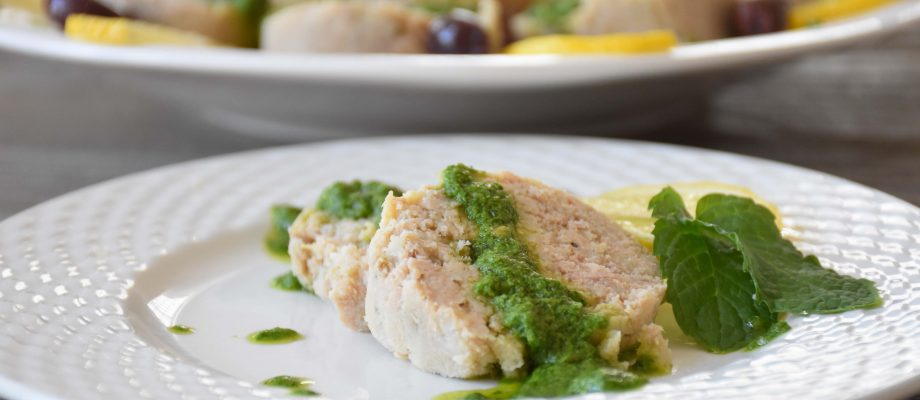Polpettone di Tonno with Horseradish Green Sauce