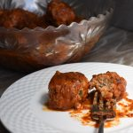 Turkey Meatballs with Spicy-Sweet Pepper Sauce